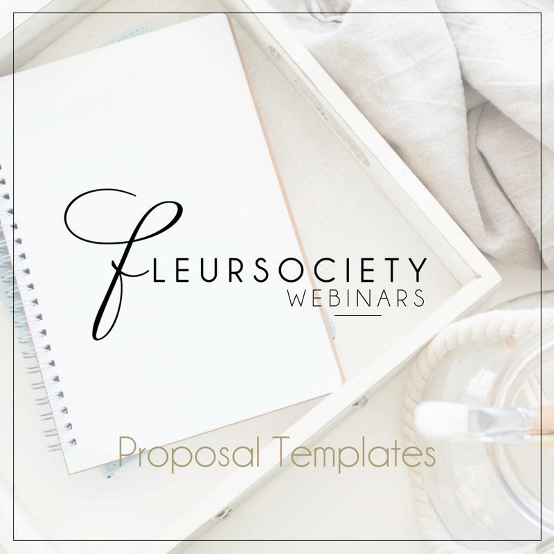 Fleursociety Proposal Templates Webinar