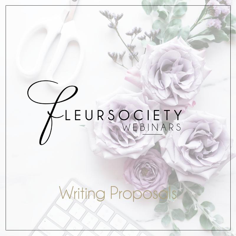 Fleursociety Writing Proposals Webinar