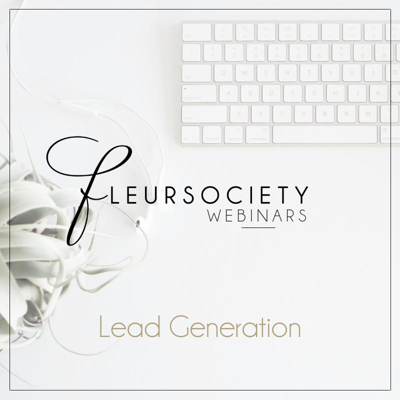 Fleursociety Lead Generation Webinar