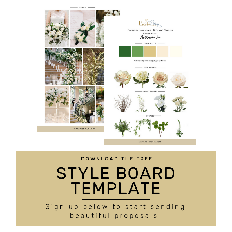 Fleursociety FREE Style Board Template