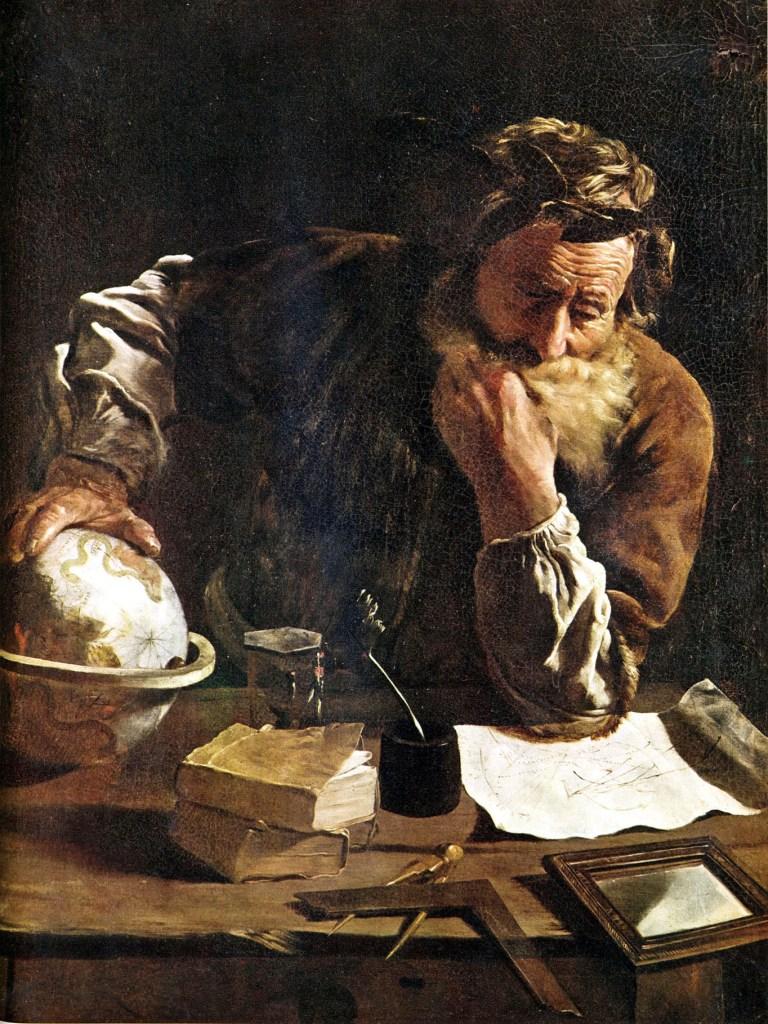«Archimedes Thoughtful», por Domenico Fetti, 1620.