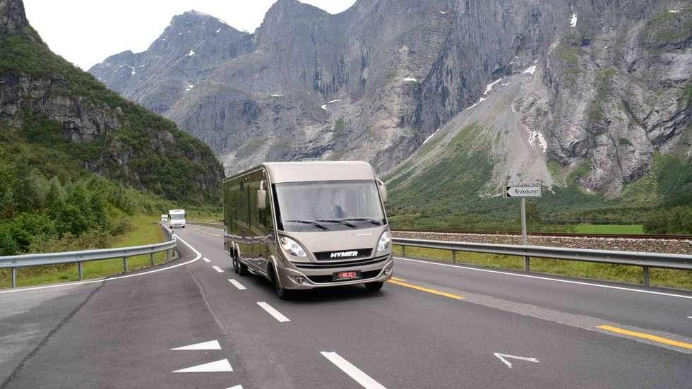 POPULÆRT: Bobiler og campingvogner er populære i Møre og Romsdal. FOTO: OLAV SKJEGSTAD