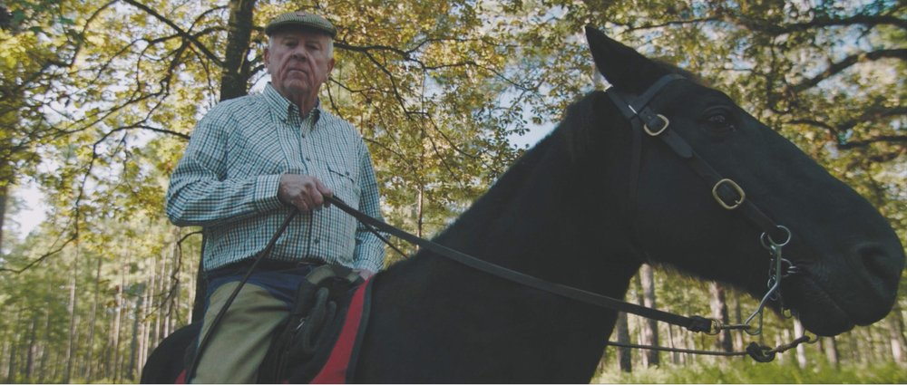 Older Gentleman on Horseback