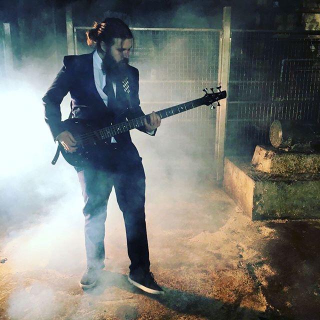 Tb. ❤️ @robertdoranfilms #musicvideo #music #rock #pop #metal #throwback #beard #beards #bearded #ibanez #watchetpapermill #suit #fun #memories