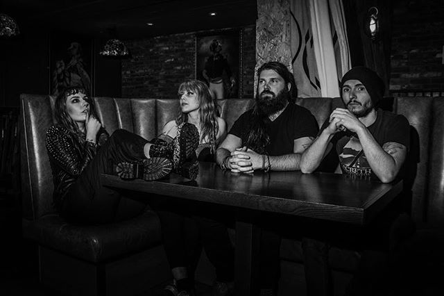 I don't want to lose when all I have is something to prove . #band #posers #photography #vocalist #guitarist #bassist #drummer #blackandwhitephotography #chilling @chapmanguitars @victoryampsuk #leather #beard #bearded #moody