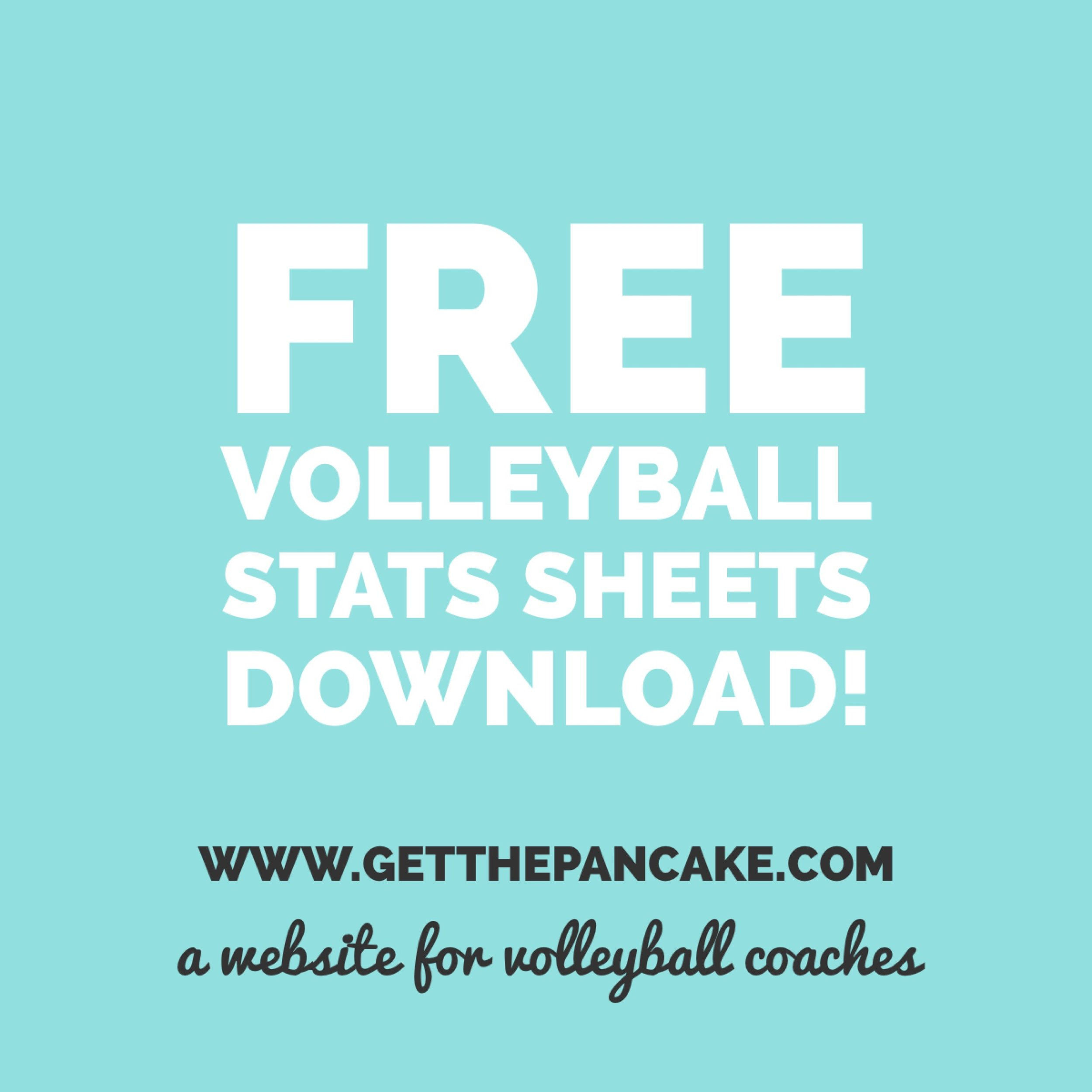 photo relating to Volleyball Stat Sheets Printable known as Totally free Volleyball Statistics Sheet Down load! Consider The Pancake A