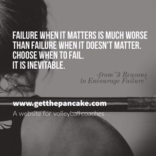 3 Reasons to Encourage Failure