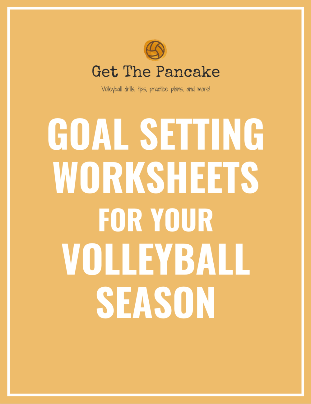 Need goal setting worksheets for your volleyball team? - Buy once, print for your whole program!