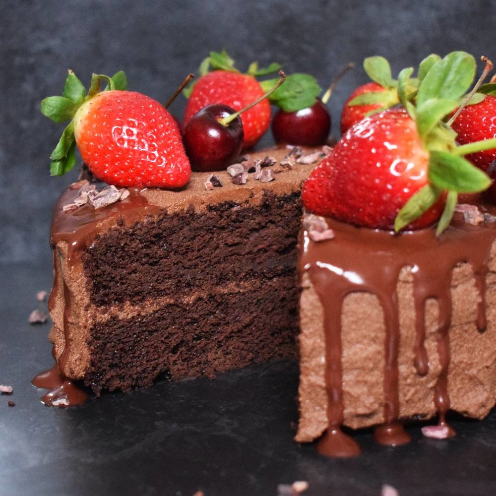 Fudgy Vegan Chocolate Cake - Ally The Earthling