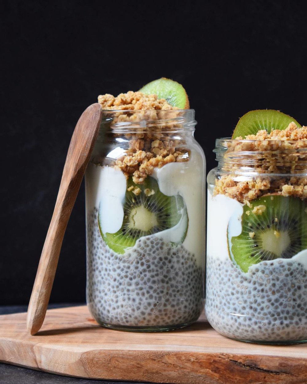 Chia Pudding and Granola Jars - Ally The Earthling