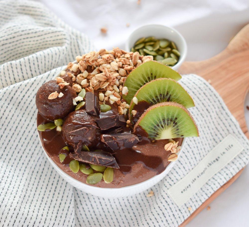 Chocolate Kiwi Bowl