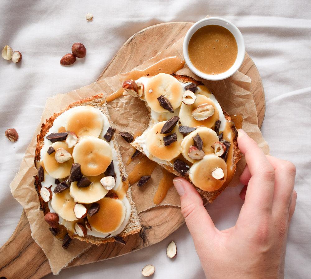 Caramel Breakfast Toasts