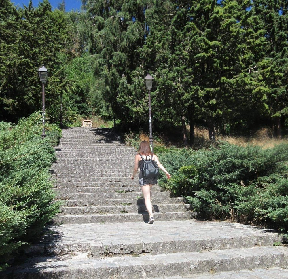Climbing Stairs in Spain