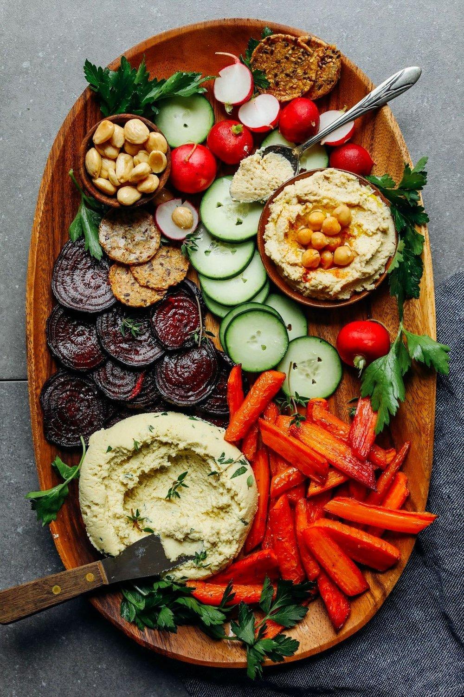 Vegan Macadamia Cheese and Vegan Crudité by Minimalist Baker