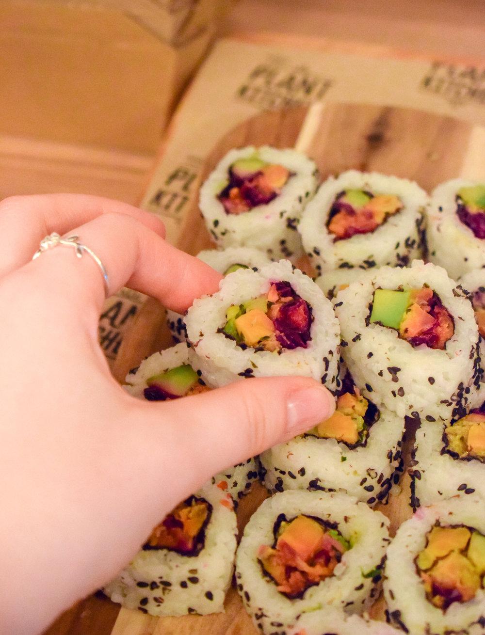 Rainbow Veg Sushi
