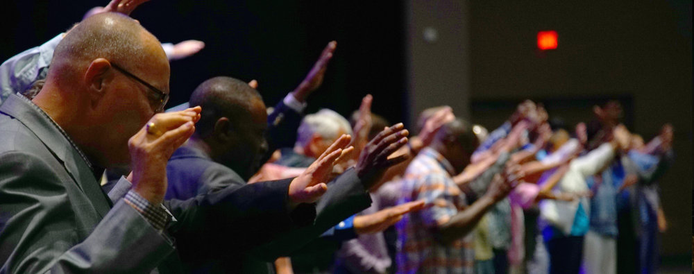Praying together in Orlando, FL