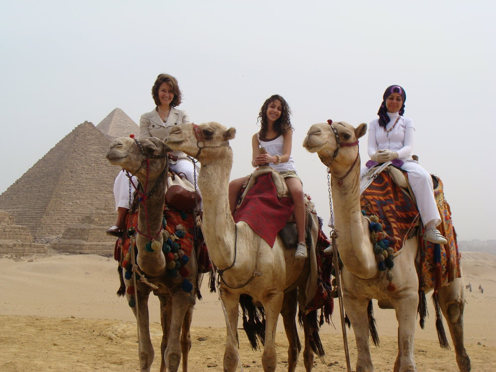 Connecting with a local woman in Egypt