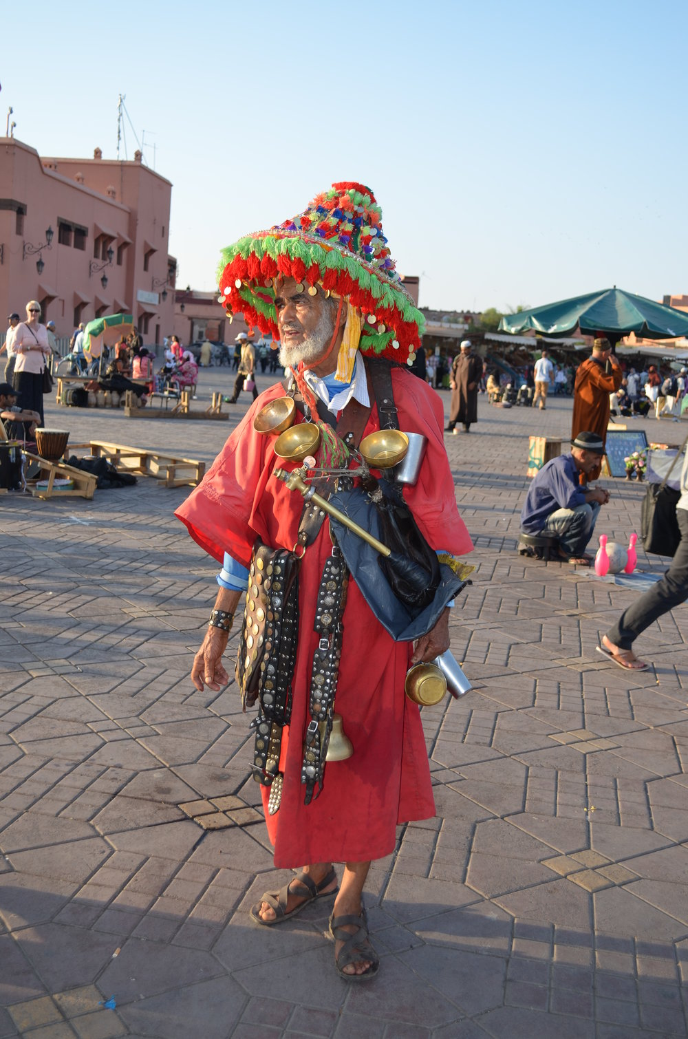 Traditional chai seller, Marrakesh, Morocco