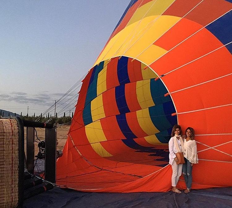 Hot air ballooning over Temecula, California