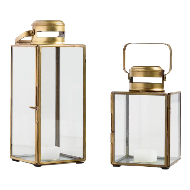 Antiqued Brass Cargo Lanterns / World Market