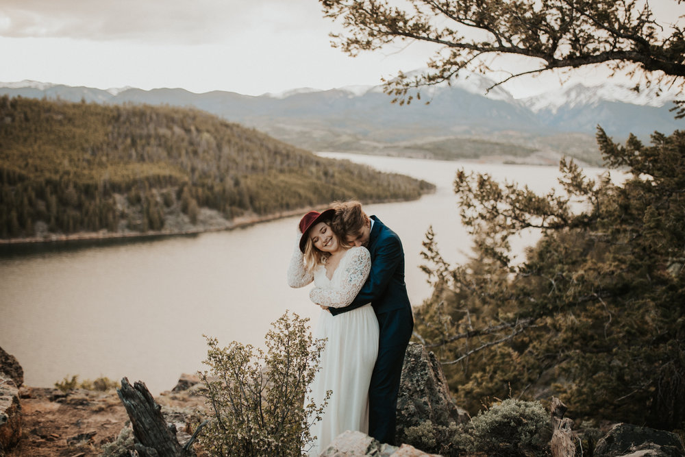 Christina + Jeremiah   Adventurous hiking elopement in Dillon, CO.