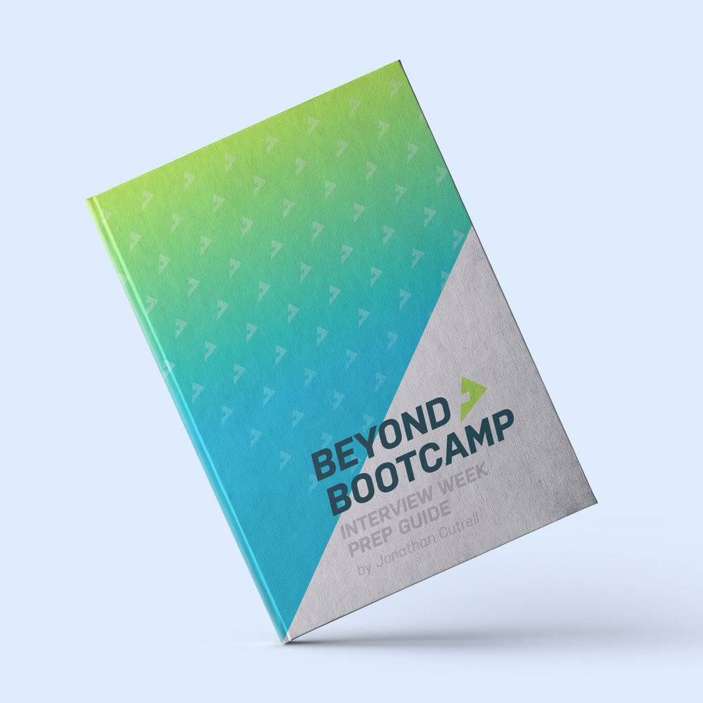 Beyond Bootcamp  - Written by Jonathan Cutrell, the Beyond Bootcamp Interview Week Prep Guide is 100% free. Jonathan's goal is to help developers connect deeply to their career purpose. Covering a 7-day span, you will go through a series of exercises that will help uncover your strengths and goals and connect those to the company you are interviewing with.Download it now.