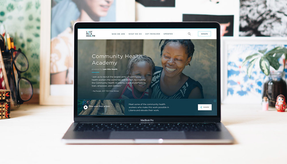 We helped Last Mile Health launch the Community Health Academy at TED 2017. -
