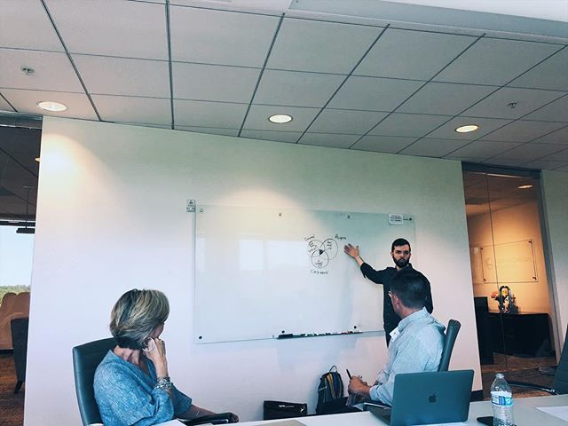 Nick (@thenickblackmon) talking digital strategy with new friends and clients in Atlanta.