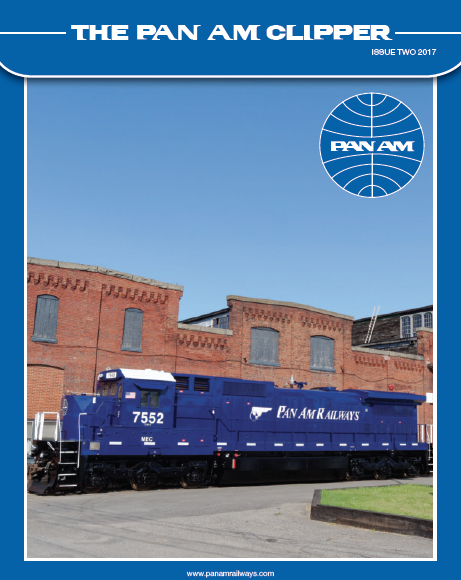 issue 2-2017 - PRESIDENTS MESSAGEIn this issue of the Pan Am Clipper, our colleagues have once again contributed a wide range of articlesregarding our business and its impacts on many different stakeholders. I appreciate the willingness ofour employees to report on projects being undertaken by the railroad and hope that you find their articlesinformative and enjoyable. Read More….
