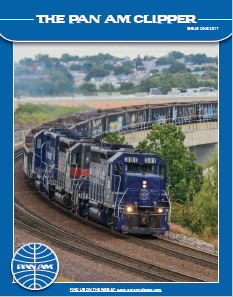 Issue 1 -2017 - THE PRESIDENTS MESSAGEAs we begin 2017, this edition of the Clipper highlights some of the initiatives that we are undertaking toimprove both the safety and performance of the railroad. While I trust that these articles will be informative, Ialso want to take this opportunity to summarize several other initiatives that are being undertaken to upgradePan Am's equipment and facilities. Read More…