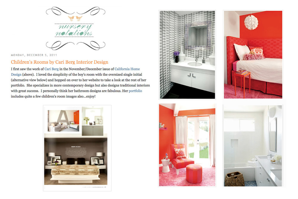 Nursery notatios cari berg interior design los angeles interior designer