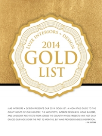 LUXE MAGAZINE Gold List 2014