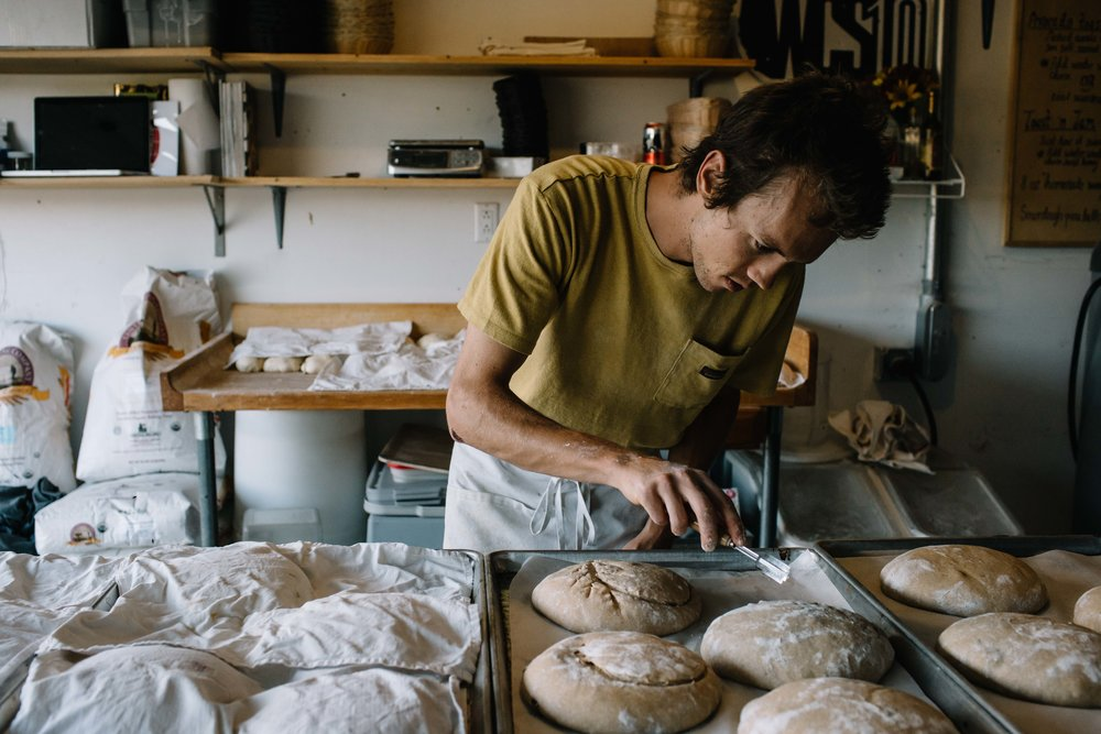IN SEASON ARTISAN SOURDOUGH BREAD - Our loaves are handcrafted with love out of our industrial bakery / converted garage in Victor Idaho.