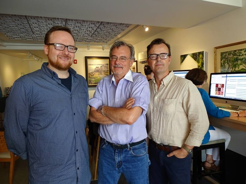 Jamie LaFleur, Robert J. Steinberg and Kelly Wright are developing ARTBnk, an online application using artificial intelligence to provide real time valuation for art. (KIMBERLEY HAAS/Union Leader Correspondent)