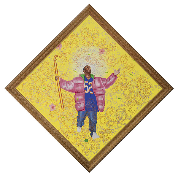ARTBNK RTV$46,326 - KEHINDE WILEYEaster Realness #7, 2004Oil on canvas, 114.75 x 114.75 in