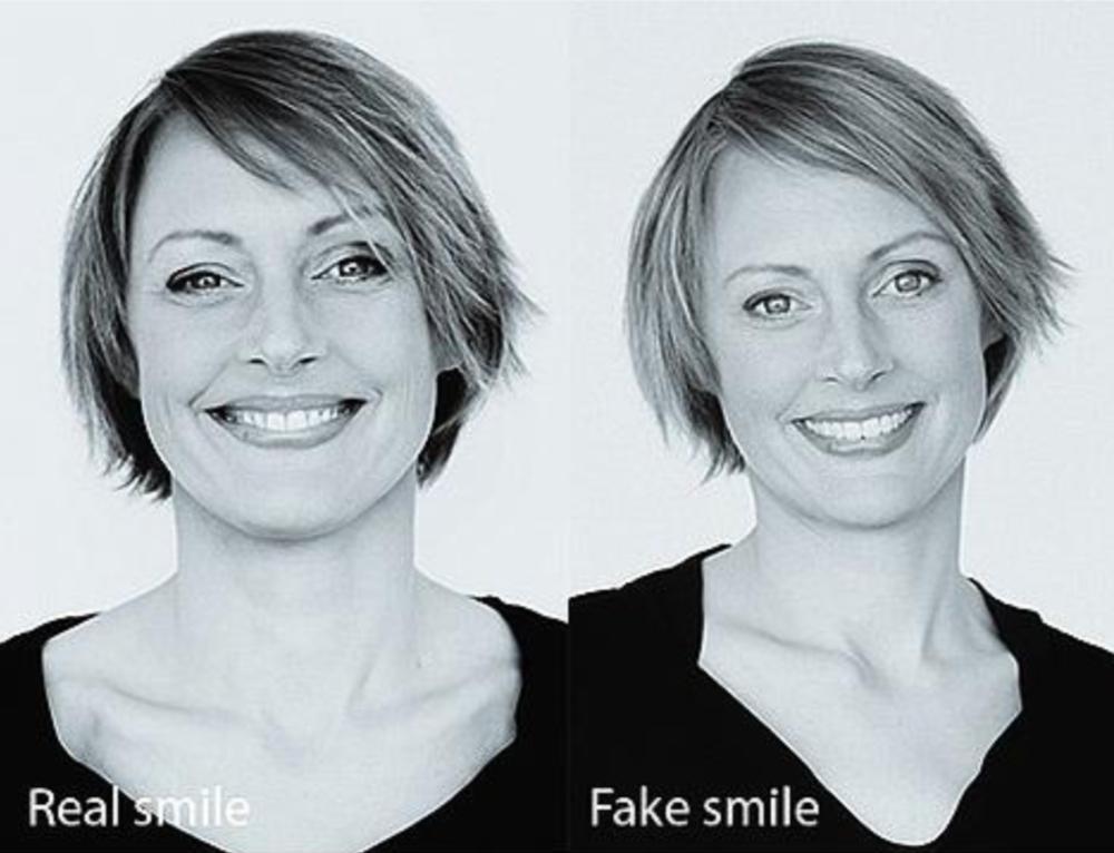 usmiechanie sie u kobiet i u mezczyzn