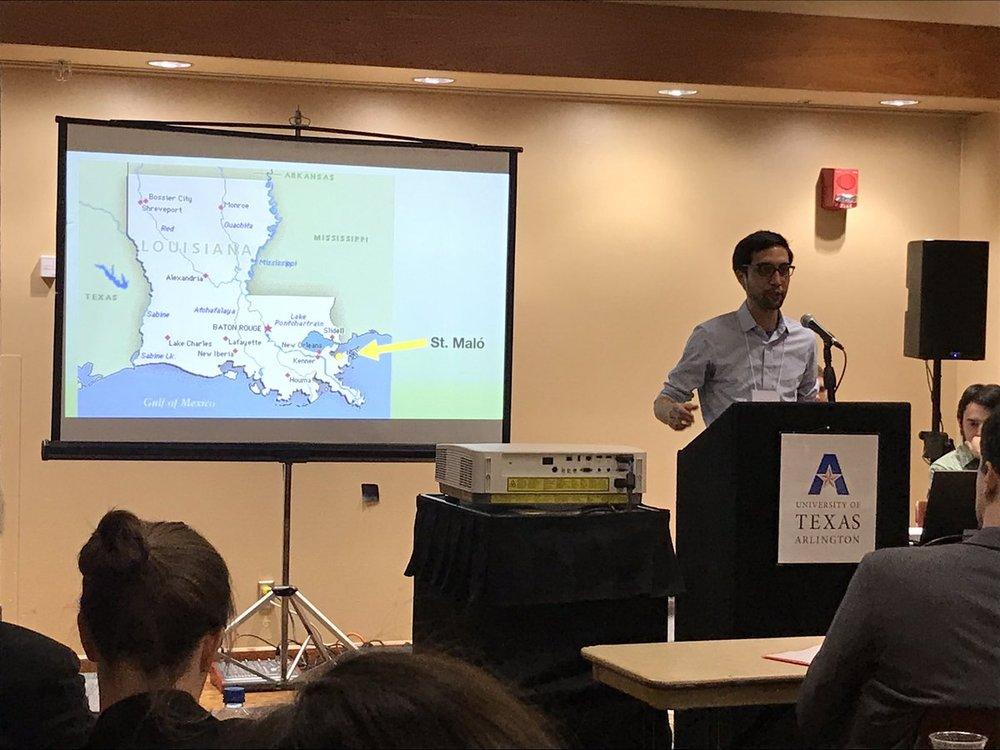Transatlantic History Conference, University of Texas at Arlington, Fall 2018