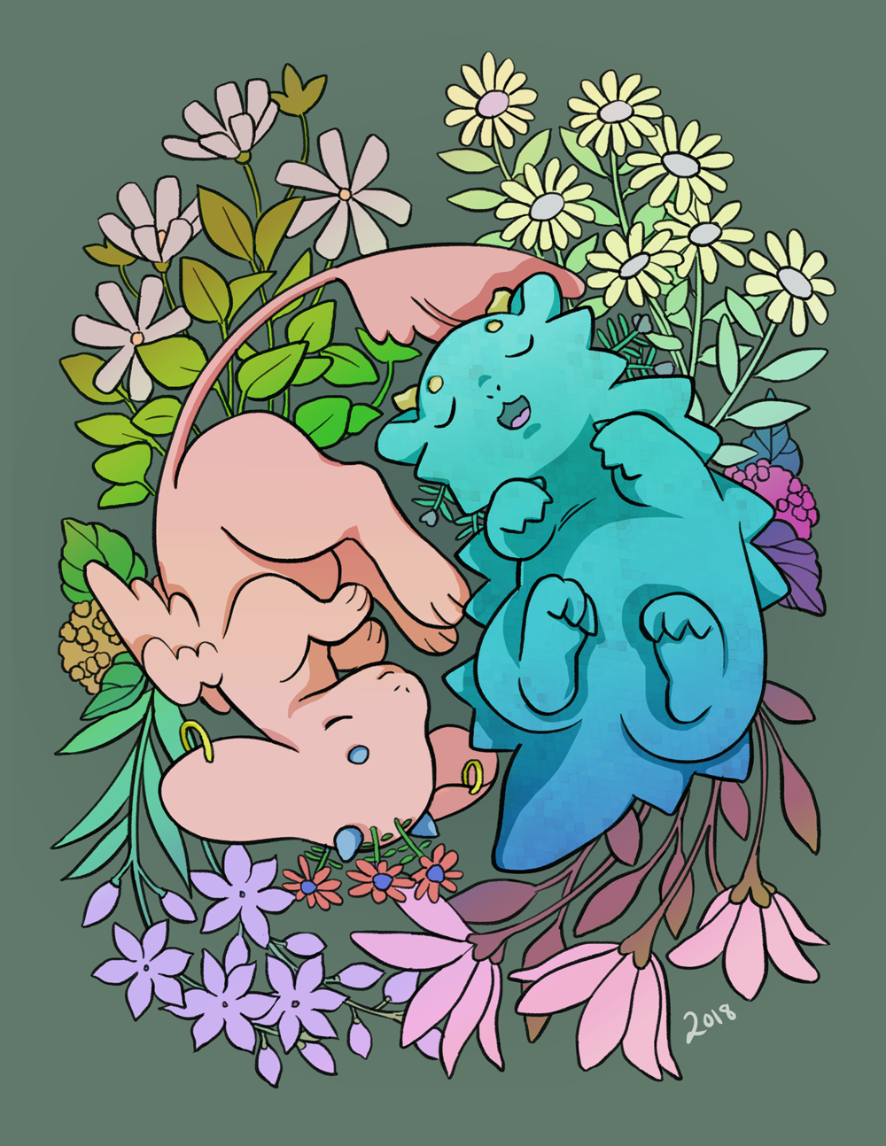 Floral Dragons