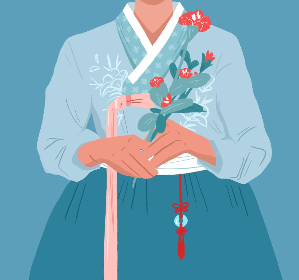 Hanbok + Flowers