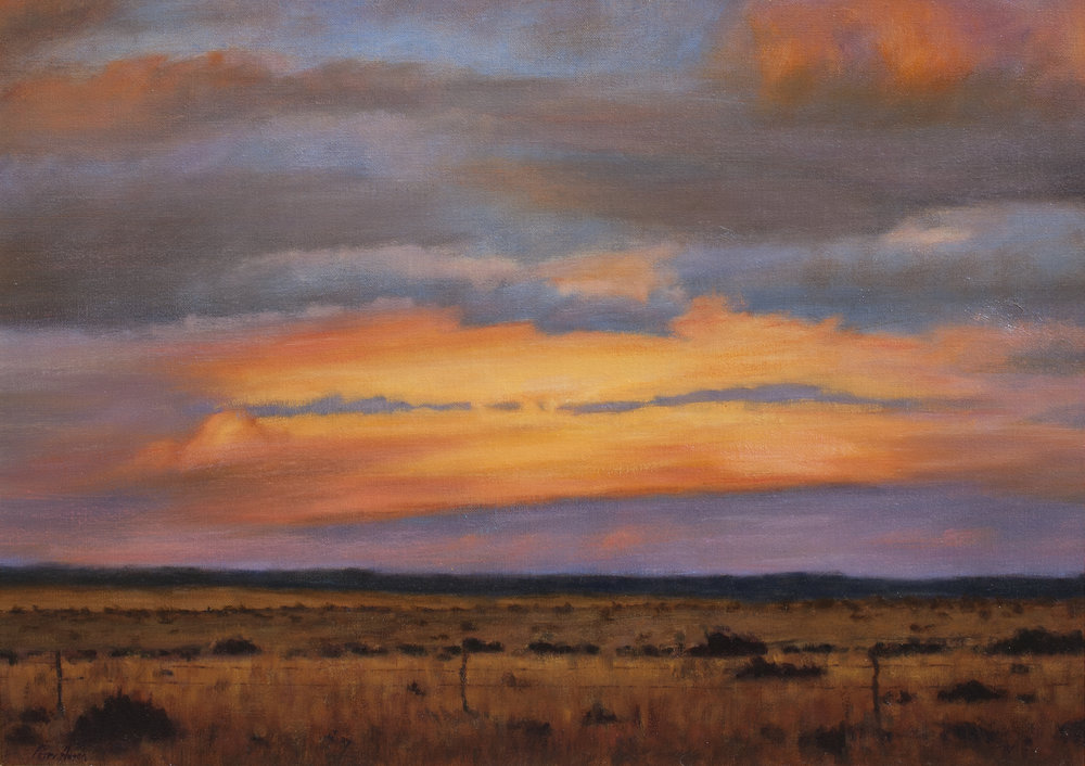 "Another Santa Fe Sunset • 24"" x 36"" • Oil"