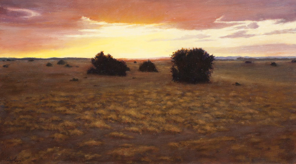 "End of the Day Closure • 17"" x 30"" • Oil"