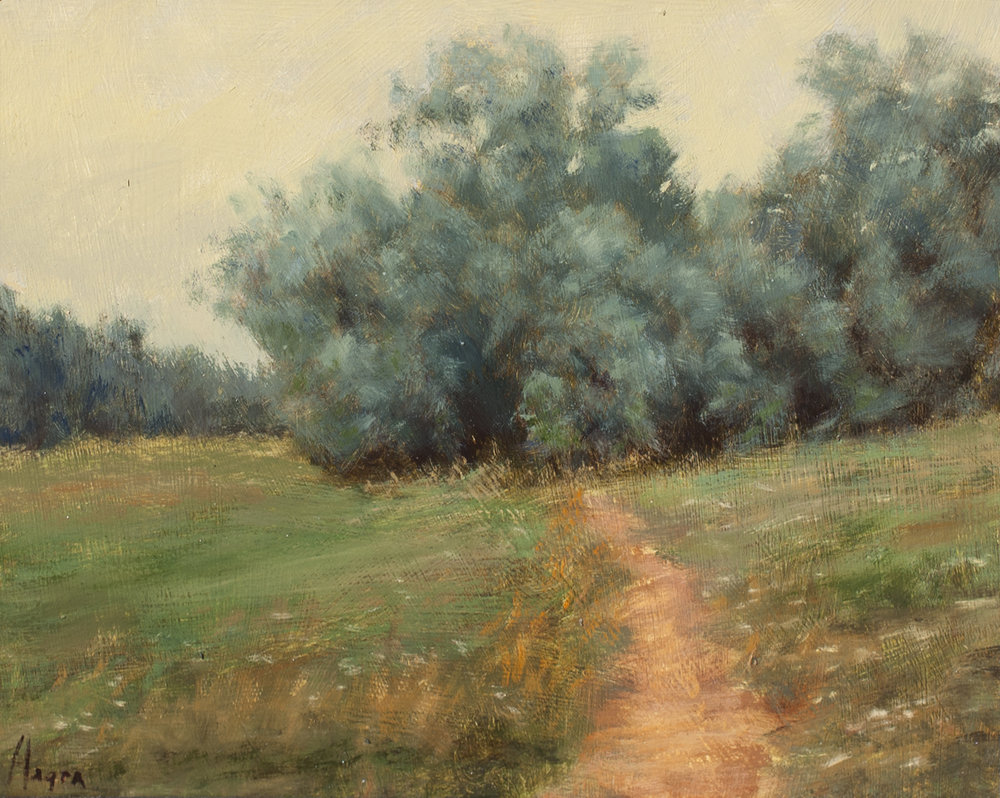 "Evening Russian Olive • 8"" x 10"" • Oil"