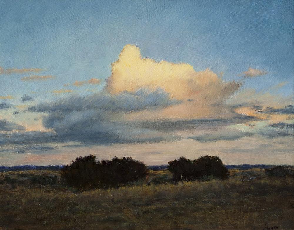 """Glowing Cloud • 11"""" x 14"""" • Oil"""