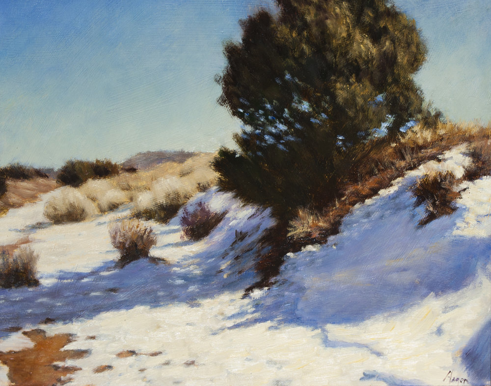 "Snow Banks • 11"" x 14"" • Oil"