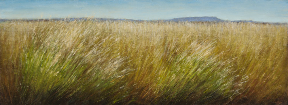 "Wind in the Grasses • 18"" x 48"" • Oil"