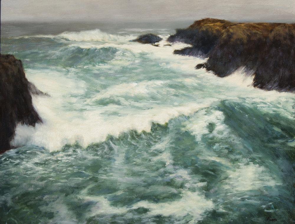 "Up the Coast • 16"" x 20"" • Oil"