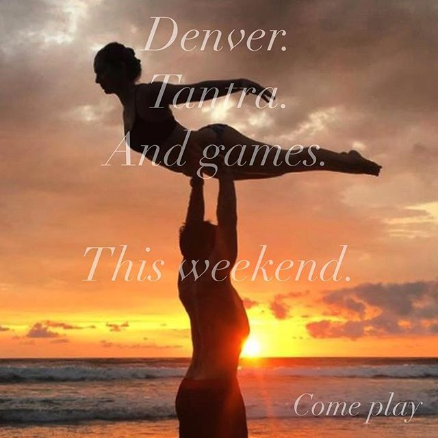 And here we go! Flying out tomorrow for two days in Denver at @samadhiyogadenver. We're gonna go deep, and we're gonna laugh while we're down there. Come play! #warrior1 #playandalliscoming #tantra #notjustasanas