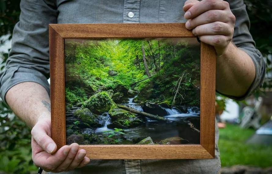 NEWBURGH PHOTO AND FRAME - Beautiful prints primarily of the Hudson Valley by Stephanie McGrogan sold in handcrafted frames by Van Mcgrogan. Find beautiful mountains, streams and nature in frames built from the ground up. All wooden frames are handcrafted and held together without fasteners, allowing a strong, natural frame that highlights the wood's natural grain. Finished with Danish oil to create the perfect stain.