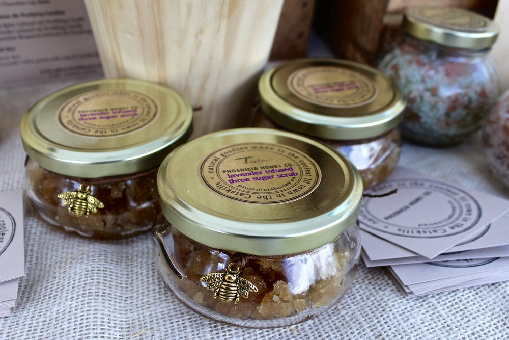 PHOENICIA HONEY CO. - Everything made by Phoenicia Honey Co. is farm crafted in small batches, filled with locally sourced ingredients wherever possible.Find flavorful infused raw local honey, lovely lip balm, beeswax scented candles, decadent scrub and other naturally made tasty honey inspired goodies at the Market. Phoenicia Honey Company is based at Amira's Farm, where bees and plants are grown organically and with love.