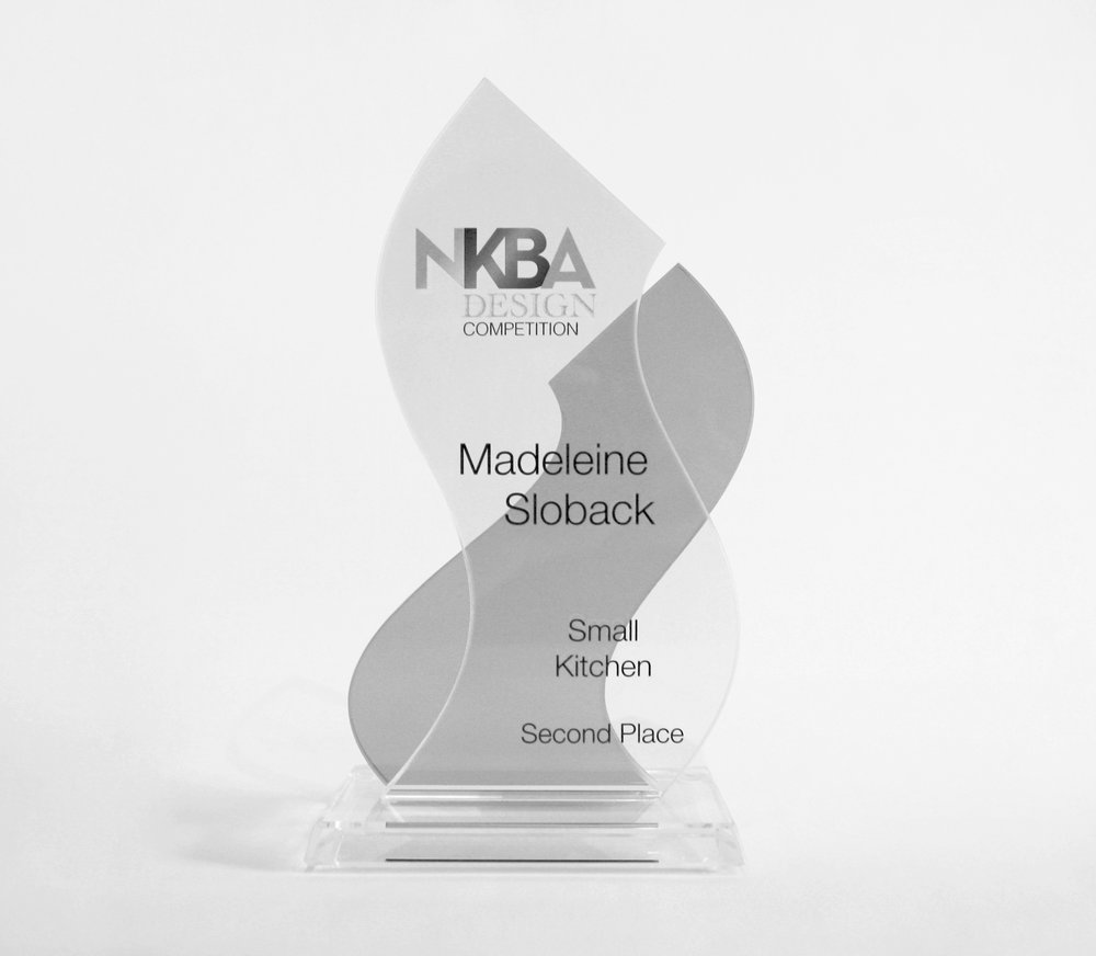 "NKBA / KBIS Award - Madeleine Design Group has received an award in NKBA's ""Small Kitchen"" category at the Kitchen & Bath Industry Show® (KBIS) held in Las Vegas, Nevada.2nd Place across all of North America:East 6th Residence: Best Small Kitchen"